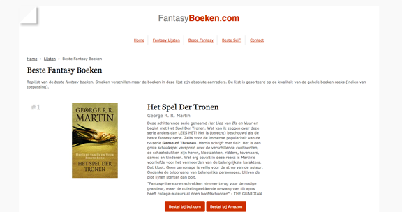 FantasyBoeken.com website screenshot