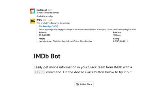 IMDb-Bot website screenshot