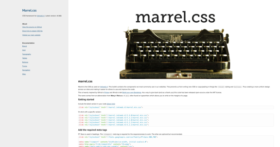 Marrel.css website screenshot