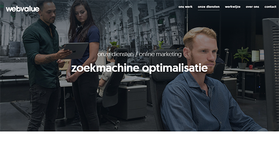 Zoekmachine optimalisatie webvalue